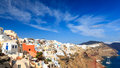 Oia santorini greece buildings on the famous caldera at Royalty Free Stock Photos