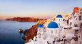 Oia santorini greece with caldera view in Royalty Free Stock Images
