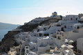 Oia on Santorini island in the Cyclades Royalty Free Stock Photo