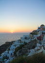 Oia at the sunset santorini island greece Royalty Free Stock Photos
