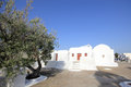 Oia traditional church styles in Santorini island Royalty Free Stock Images