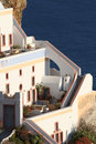 Oia village hotel santorini a in island greece Royalty Free Stock Photo