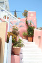 Oia village hotel santorini a in island greece Stock Photos