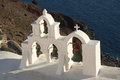 Oia village santorini crosses in in the island of greece Royalty Free Stock Photos