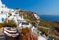 Oia village at Santorini, Greece Royalty Free Stock Photography