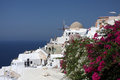 Oia village on Santorini island Stock Photo