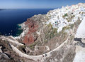 Oia village on Santorini island Royalty Free Stock Photography