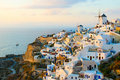 Oia village at Santorini island, Greece Royalty Free Stock Photography