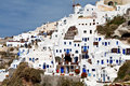 Oia village at Santorini island in Greece Stock Images