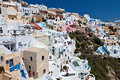 Oia village at Santorini island in Greece Royalty Free Stock Photo