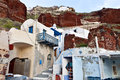 Oia village at Santorini island in Greece Stock Photography