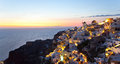 Oia village in Santorini island - Greece Royalty Free Stock Image