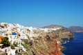 Oia the village of santorini island greece Stock Images