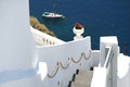 Oia village santorini in the island of greece Royalty Free Stock Image