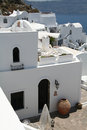 Oia village santorini in the island of greece Royalty Free Stock Photos
