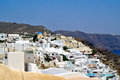 Oia the village of santorini island greece Stock Photos