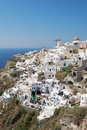 Oia village on santorini island greece Stock Image