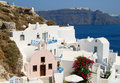 Oia village on santorini island greece Royalty Free Stock Images