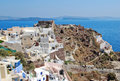 Oia village on santorini island greece Royalty Free Stock Photography