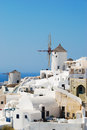 Oia village on santorini island greece Royalty Free Stock Photo