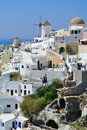 Oia village on santorini island greece Stock Photography