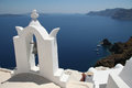 Oia village santorini the view of caldera from greece Royalty Free Stock Photos