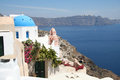 Oia village santorini the view of island caldera from greece Stock Photo