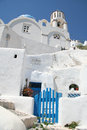 Oia village santorini a view of island greece Stock Photos