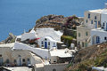 Oia village santorini a view of island greece Royalty Free Stock Photography