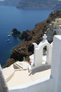 Oia village santorini a view of island greece Royalty Free Stock Images