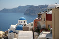 Oia village santorini a view of island greece Royalty Free Stock Photos