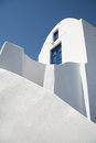 Oia village santorini white house in island greece Royalty Free Stock Image