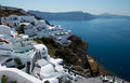 Oia village view of the and caldera santorini island greece Stock Photo