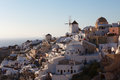 Oia Windmills At Dusk, Santorini Royalty Free Stock Photo