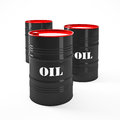 Oil barell d image of barel on white Stock Photography