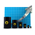 Oil Barrel with the Arrow Graph. Royalty Free Stock Photography