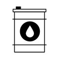 Oil barrel isolated icon
