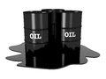 Oil barrels on white background Royalty Free Stock Image