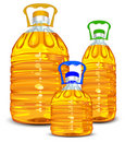 Oil bottles Royalty Free Stock Photo