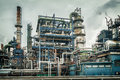 Oil and chemical industry plant Royalty Free Stock Photo