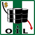 Oil crisis. Fall in oil prices Stock Images