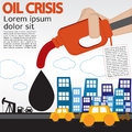 Oil crisis illustration concept vector eps Stock Photo