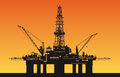 Oil derrick in sea Stock Photography