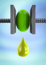 Oil drop Royalty Free Stock Images