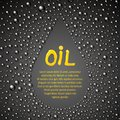 Oil drop abstraction vector illustration Stock Photography