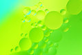 Oil drop background with green color Stock Photography
