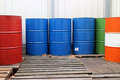 Oil drums Stock Photography