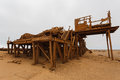 Oil extraction station old abandoned from skeleton coast namibia Stock Photo