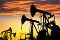 Oil field Royalty Free Stock Photography