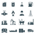 Oil and gas icon set